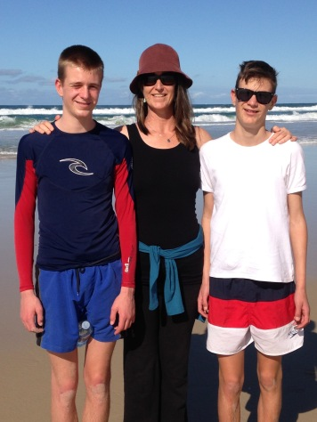 Joe, Jodie & Charlie on South Stradbroke Island