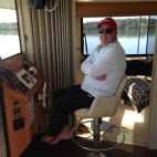 Me Dad cruising on the Coomera River